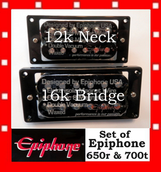 Epiphone 174 Super Hot 650r Amp 700t Humbuckers Pickups For